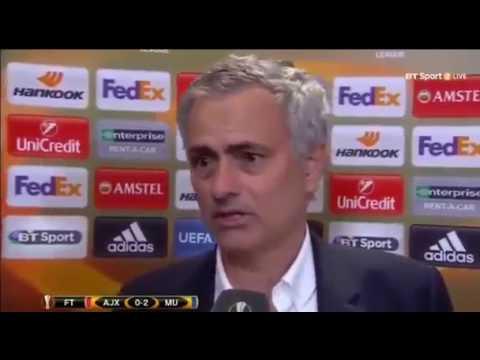 Jose Mourinho Post Match Interview Ajax vs Man Utd EL Finals