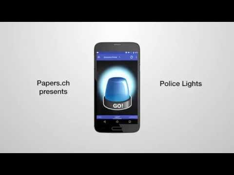Video of Police Lights & Sirens