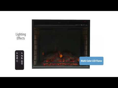 Southern Enterprises Cabrini Electric Fireplace Media Console - Black