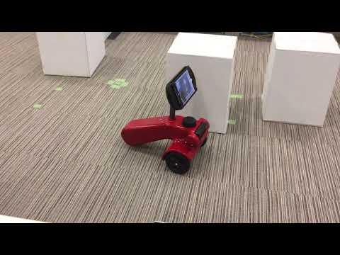 自動運転巡回(AI)機能付きテレプレゼンスアバターロボットCARE-JIRO(ケアジーロ)テスト走行