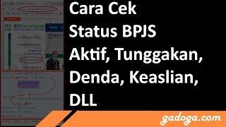 Cara Cek Status BPJS Online Tunggakan Tagihan Keaslian Dll