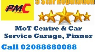 preview picture of video 'London MoT Centre & Car Services Garage  PMC of Pinner   0208 868 0088'