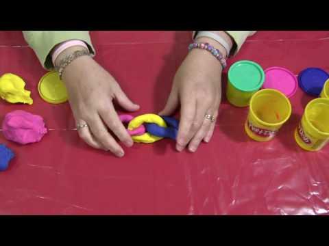 Screenshot of video: Playdough chain