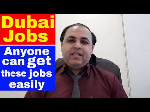 Dubai Famous Jobs | Very Easy and Good Salary Super Jobs || Jobs in Dubai