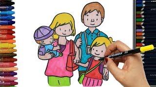 Как нарисовать семья | Раскраски детей HD | Рисование и окраска | Рисование для детей