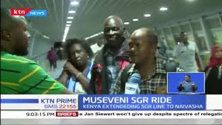 Museveni SGR Ride from Mombasa arrives in Nairobi
