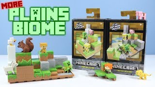 Minecraft Mini Figures Plains Biome full Collection Playsets