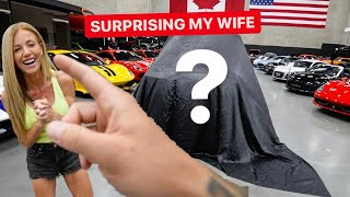 SURPRISING MY WIFE WITH DREAM CAR! *10 year anniversary present*