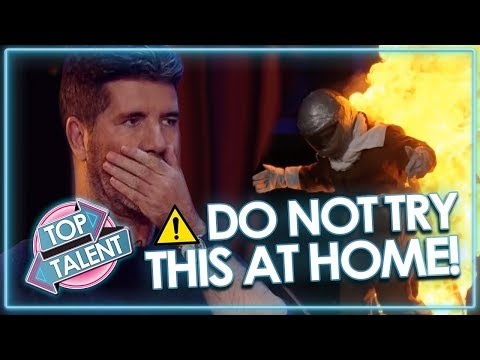 SUPER DANGEROUS AUDITIONS Send Judges Into Meltdown! *DON'T TRY THIS AT HOME* | Top Talent (видео)