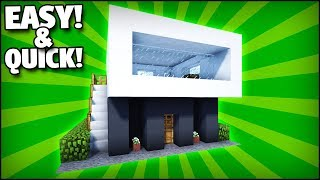 Minecraft: How To Build A Quick and Easy Modern House Tutorial