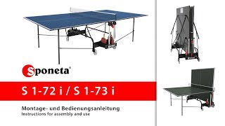 Sponeta S 1-72 i / S 1-73 i - Montageanleitung Tischtennistisch / Instructions for assembly and use