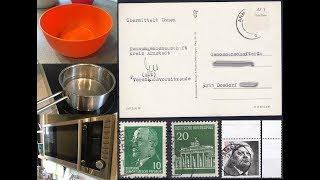 Das Ablösen von Briefmarken im Wasserbad, mit Wasserdampf und in der Mikrowelle