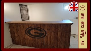 Homemade Bar For Your Man Cave (Part 1) | DIY Bar