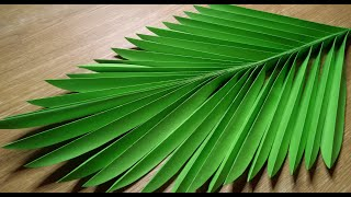 DIY GIANT LEAVES | HOW TO MAKE COCONUT LEAVES | PAPER PALM LEAVES FOR HOME DECORATION