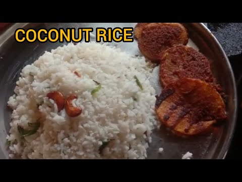 COCONUT RICE WITH POTATO FRY😋| VARIETY RICE| EASY COOKING RECIPE | VANAVIL TIPS 🌈|