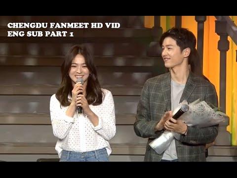 [ENG SUB] Song Joong Ki & Song Hye Kyo Fan Meeting in Chengdu Part 1 HD