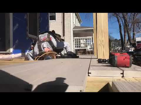 The Burr team is installing TimberTech AZEK decking using the FastenMaster Tiger Claw Gun and TimberTech's CONCEALoc Hidden Fastener. Our team can install approximately 400 SF of decking per hour using this awesome tool! Even better, the Tiger Claw gun can be used with various clip options. This deck build came out beautifully! The homeowner successfully expanded her living space to the outdoors, creating a beautiful place to spend time with friends and family.