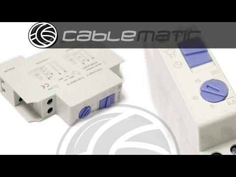 Temporizador electronico para carril DIN 35mm distribuido por CABLEMATIC ®