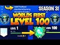 "🔴 WORLDS FIRST LEVEL ""100"" IN FORTNITE BATTLE ROYALE SEASON 3! #1 DUO PLAYER 