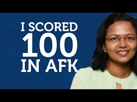 How I Scored 100 in AFK | Dr. Hima Lohi | Prep Doctors - YouTube