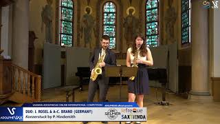 DUO J. ROSEL & A.C. BRAND play Konzerstuck by P. Hindemiht #adolphesax