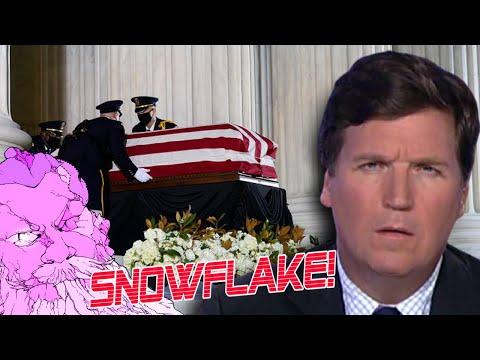 Tucker Carlson Can't Help but Lie & Fearmonger After RBG's Death