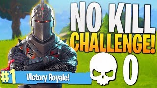 THE NO KILL CHALLENGE! (Hard)   PS4 Fortnite 0 Kill Challenge Game!