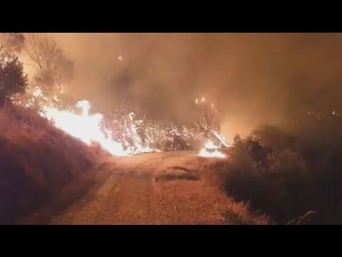 Πάτρα: Μεγάλη πυρκαγιά στην περιοχή της Βούντενης
