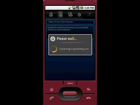 Video of Columbus (geo,open)caching app