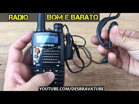 Conhecendo o Radio Baofeng UV-5RA - Radio comunicador com fone de ouvido