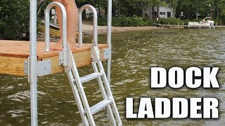 Dock Ladder that's easy to climb
