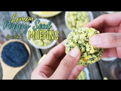 Video Lemon Poppy Seed Low Carb Muffins | Keto Recipes