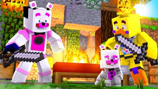 EPIC FNAF BED WARS FAILS With Chica and Helpy! Minecraft FNAF Roleplay
