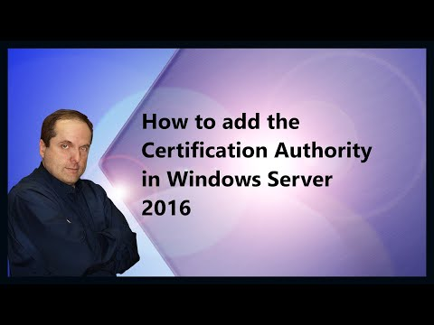 How to add the Certification Authority in Windows Server 2016 ...