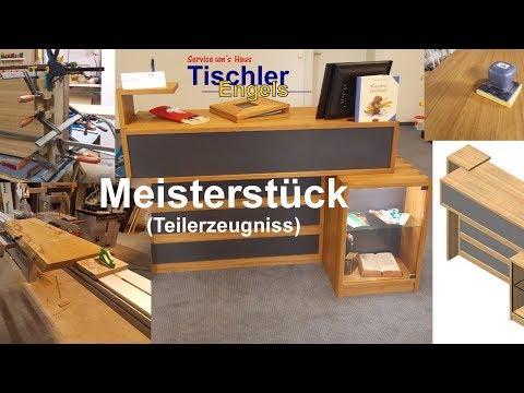 Meisterstück (Teilerzeugniss) - Kassentheke für das Projekt Buchladen