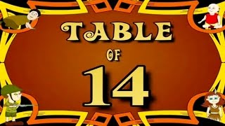 Learn Multiplication Table Of Fourteen - 14 x 1 = 14   14 Times Tables   Fun & Learn Video for Kids