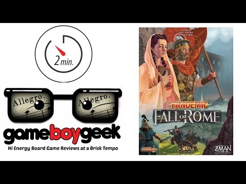 Pandemic: Fall of Rome (Allegro 2-min) Review with the Game Boy Geek