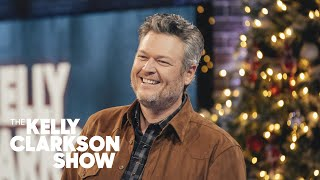 Blake Shelton Teases 'I Can't Get A Word In' As Kelly Quizzes Him On His Playlist