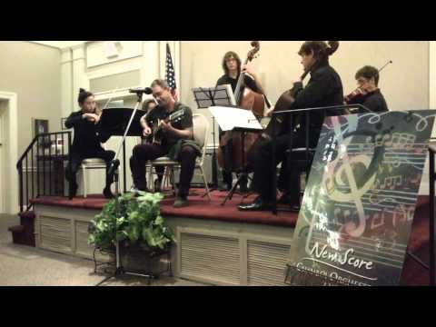 Playing guitar scores with string quintet in Winter Park, FL