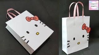 How To Make Paper Bag/ DIY Hello Kitty Paper Bag/DIY Paper Bag For Treat/DIY Goodie Bag /candy Bag