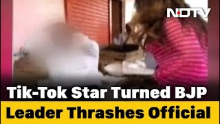 On Camera, BJP Tiktok Star Sonali Phogat Hits Official With Slippers - WITH