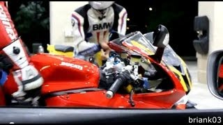 BMW S1000RR Vs Ducati 1199 Panigale S On The Highway (HD)