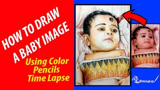 How To Draw A Baby Image - Realistic Drawing -  How To Draw Baby - Time Lapse
