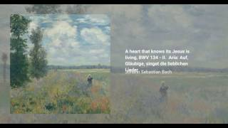 A heart that knows its Jesus is living, BWV 134
