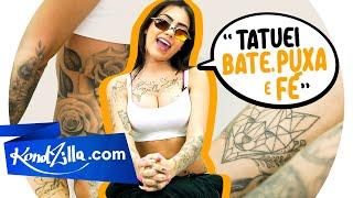"""Tatuagens com MC Mirella – """"Tenho tatuado até hoje o nome do Dynho Alves"""