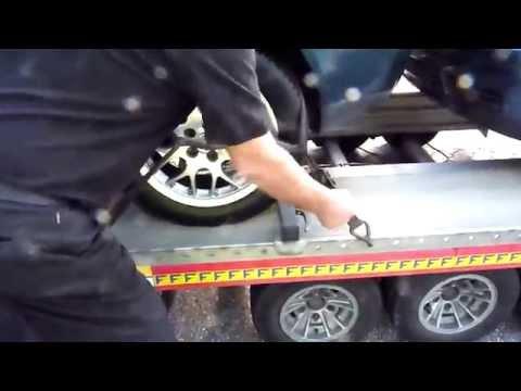A7: Auto rollt auf Transporter hin und her (13.09.2014)