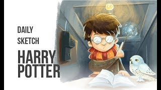 CHILDREN ILLUSTRATION : Harry Potter