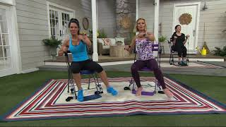 Chair Gym Workout with 3 Levels of Resistance and 5 DVD  sc 1 st  Tube & Chair Gym Exercise System with Twister Seat DVDs - ????? ?????? ?????