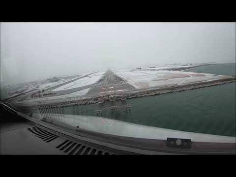 Εντυπωσιακό βίντεο: Πιλότος καταγράφει την προσγείωσή του στο χιονισμένο «Μακεδονία»