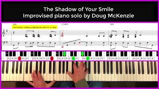 The Shadow Of Your Smile - jazz piano tutorial